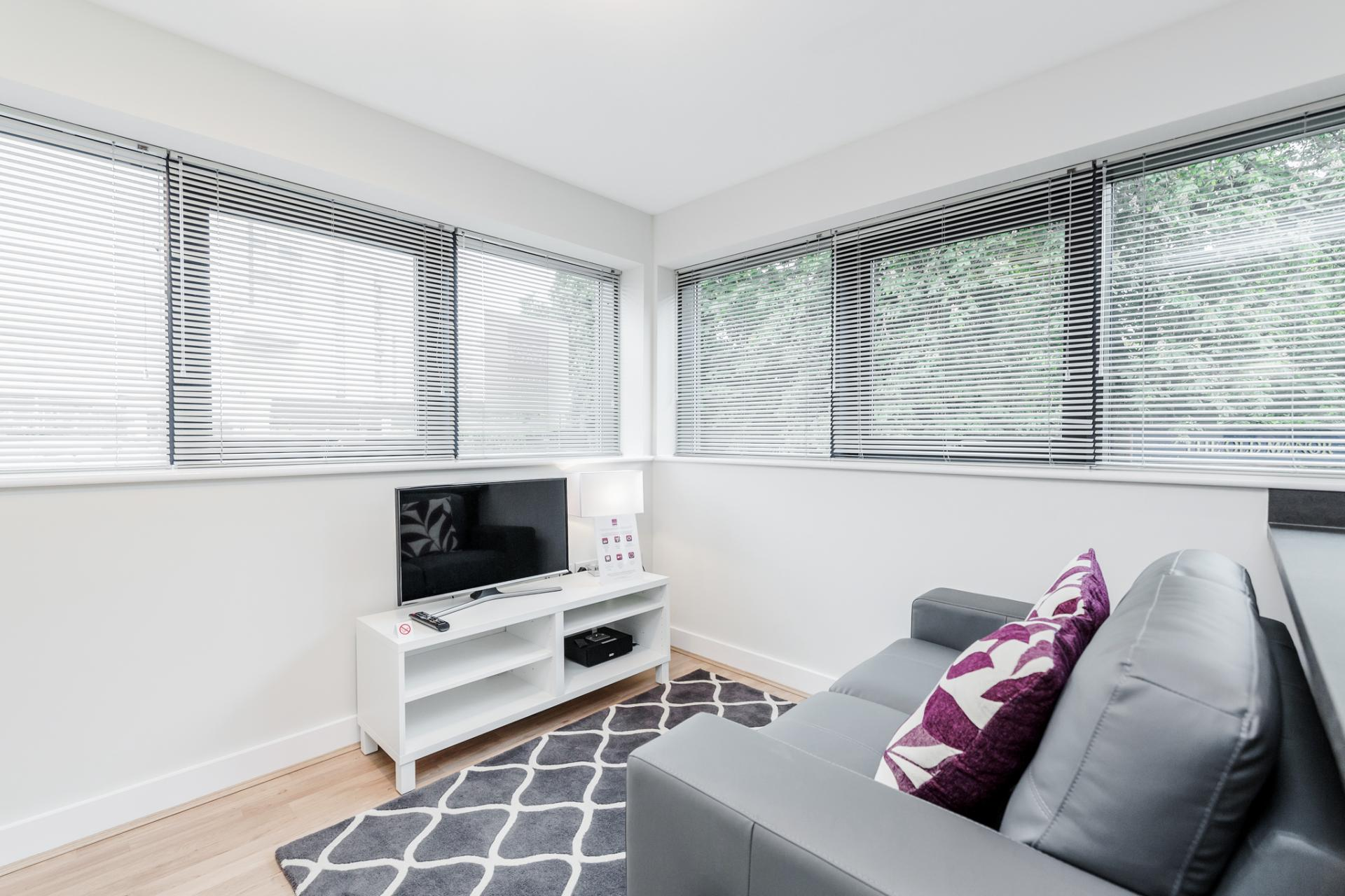 Living area at New Manor House Apartments, Centre, Bracknell