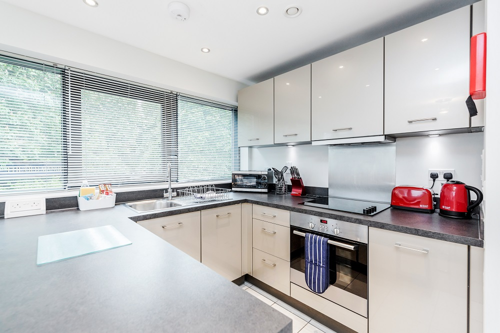 Kitchen at New Manor House Apartments, Centre, Bracknell
