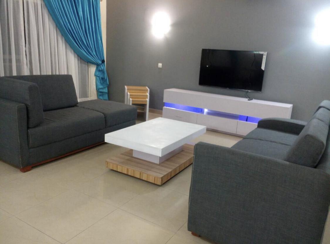 Tasteful living area in Banana Island Apartments