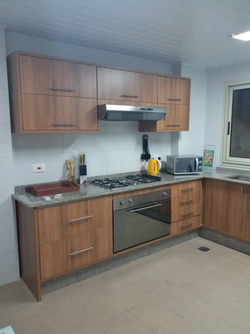 Equipped kitchen in Banana Island Apartments
