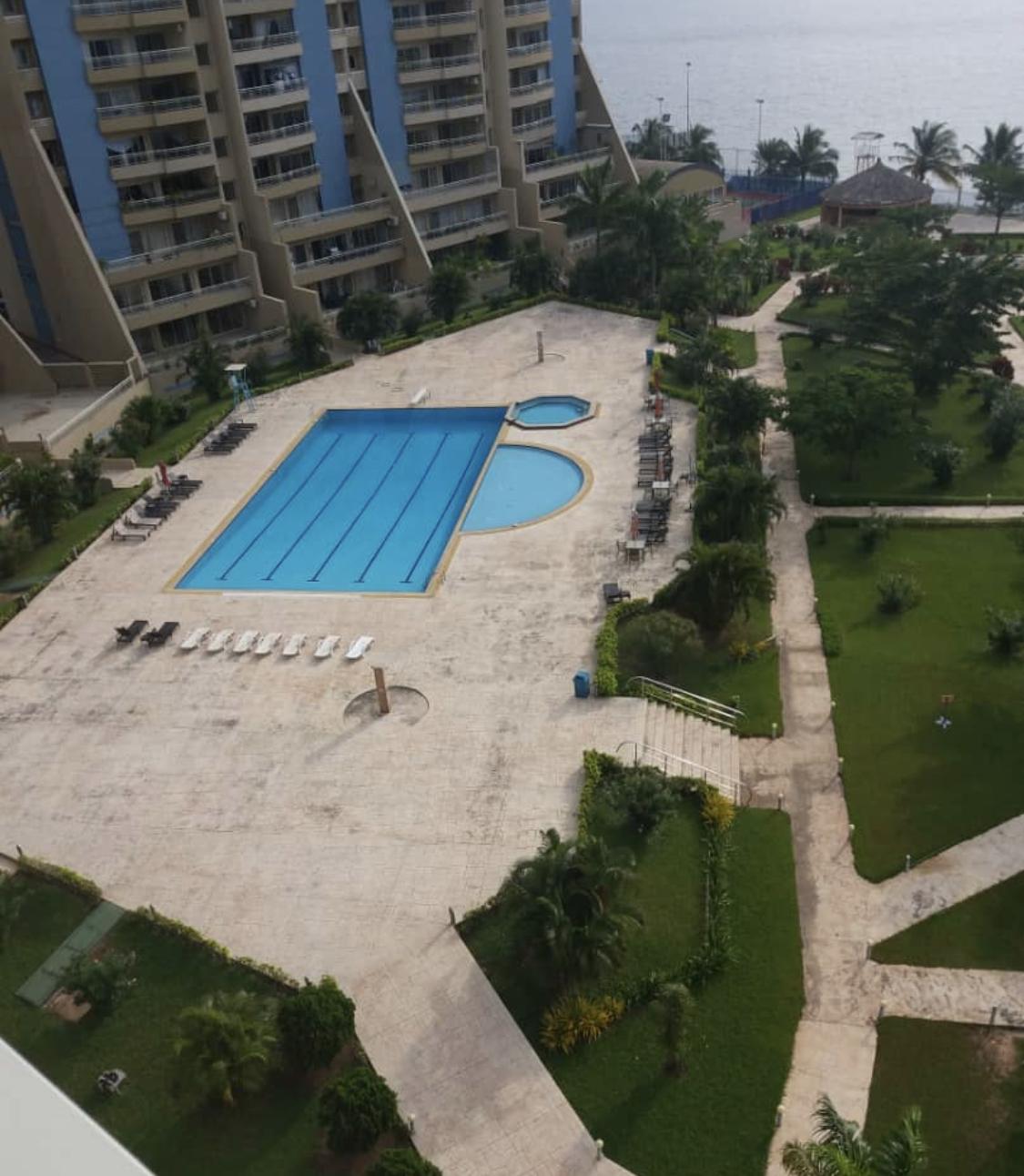 Pool at Banana Island Apartments