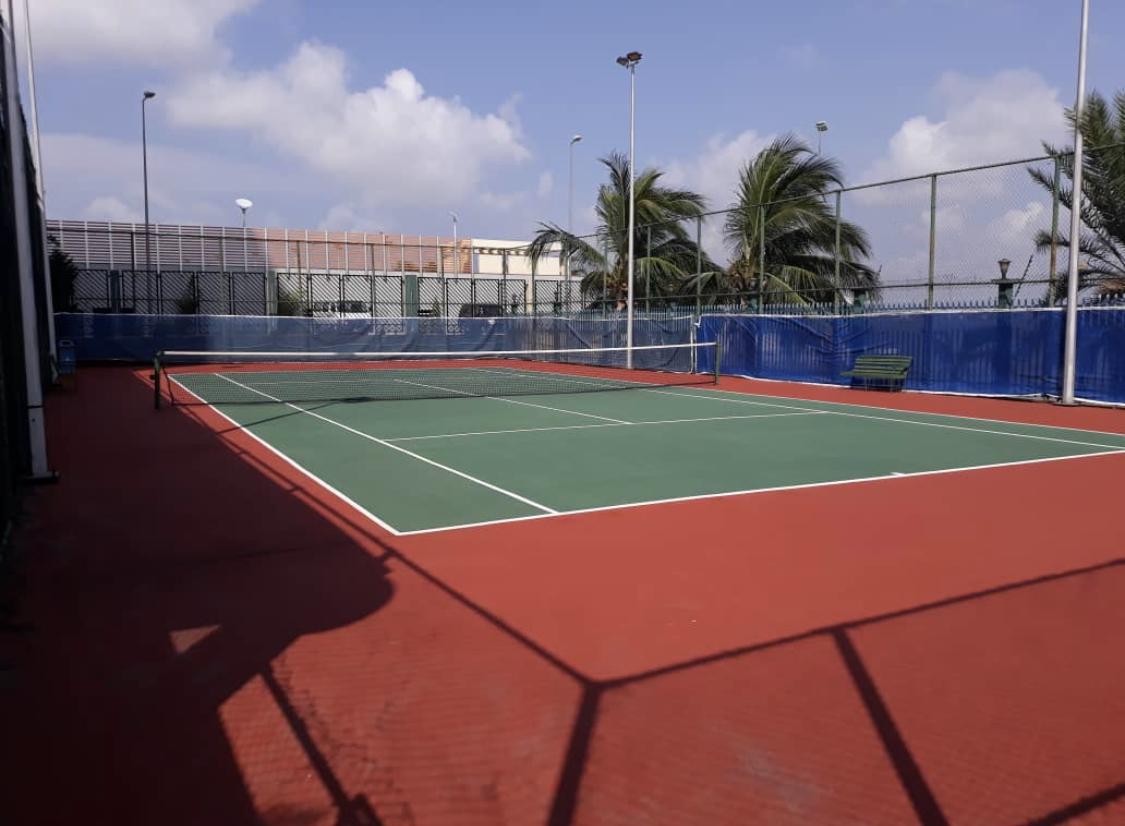 Tennis Court  at Banana Island Apartments