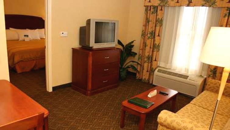 Practical living area in Homewood Suites Daytona Beach Speedway Airport
