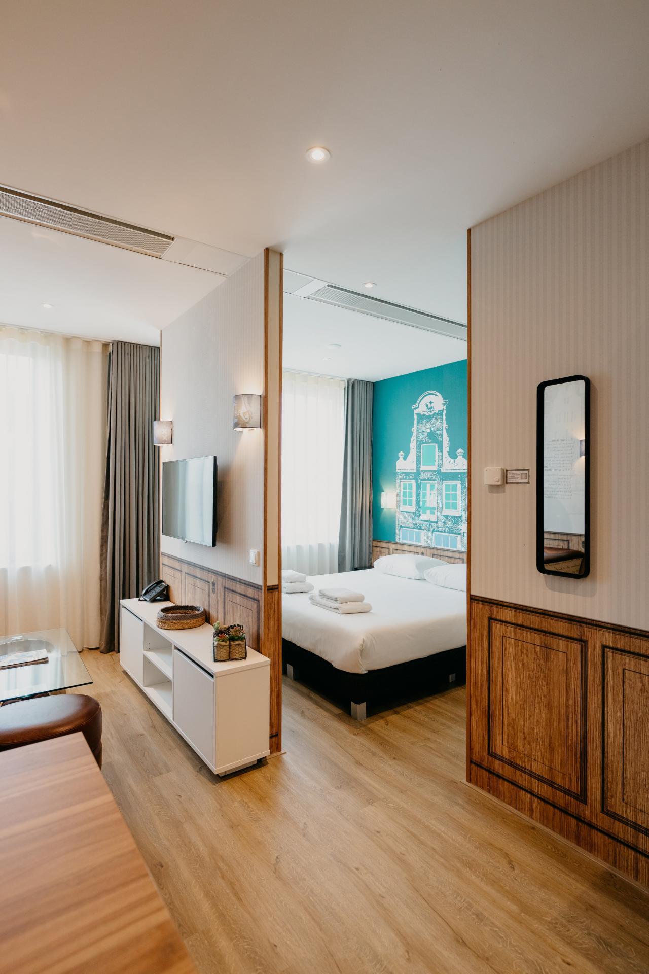 Bed at Amsterdam ID Aparthotel, Sloterdijk, Amsterdam