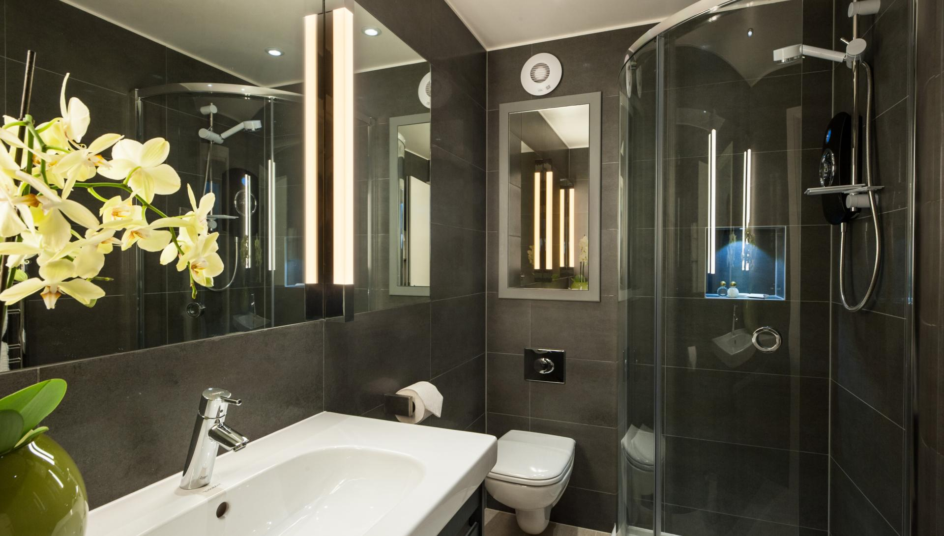 Bathroom at Chiltern Street Apartments