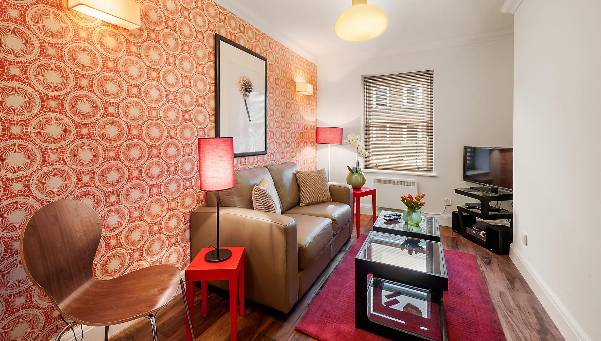 Lounge at Chiltern Street Apartments