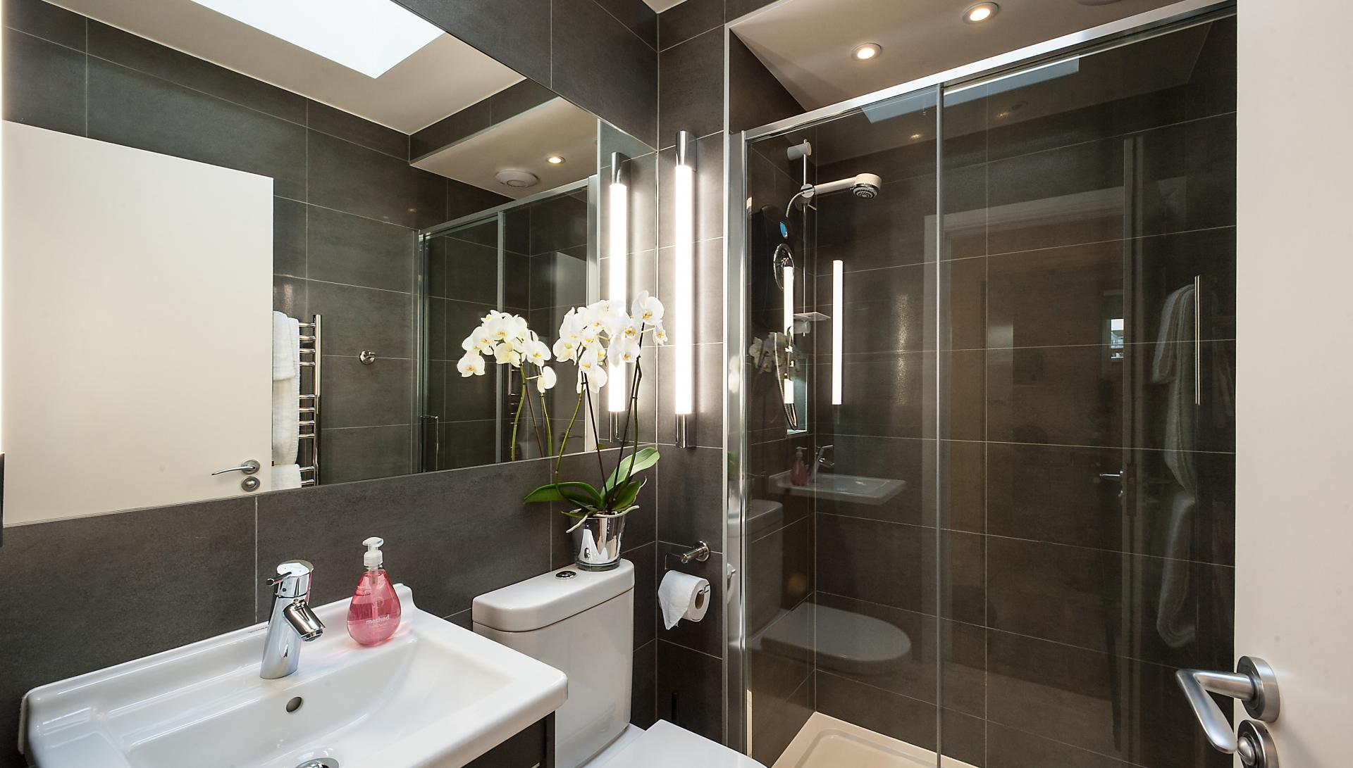 Shower at Chiltern Street Apartments