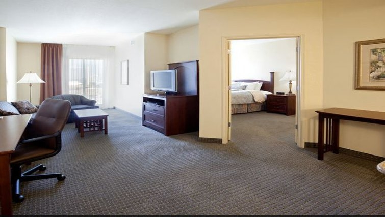Spacious living area in Staybridge Suites San Antonio Downtown