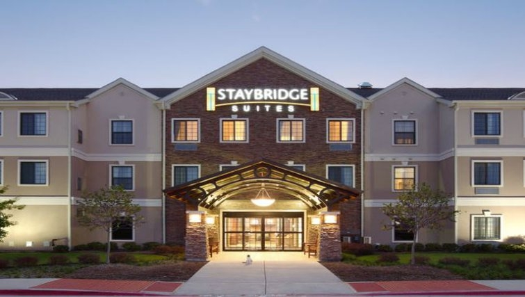 Welcoming exterior of Staybridge Suites Fort Worth West