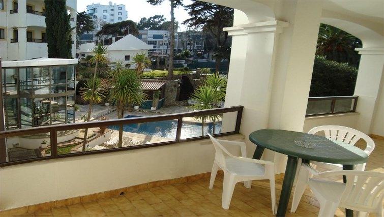 Private balcony in Estoril Apartments