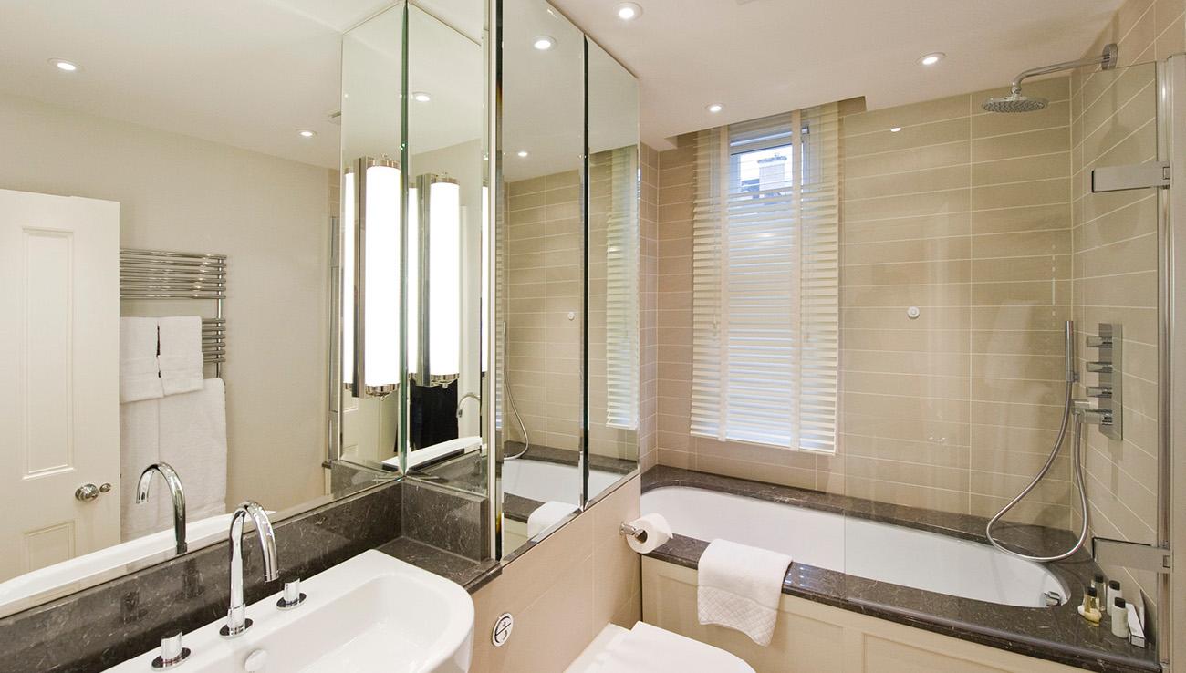 Bathroom at Native Mayfair Apartments