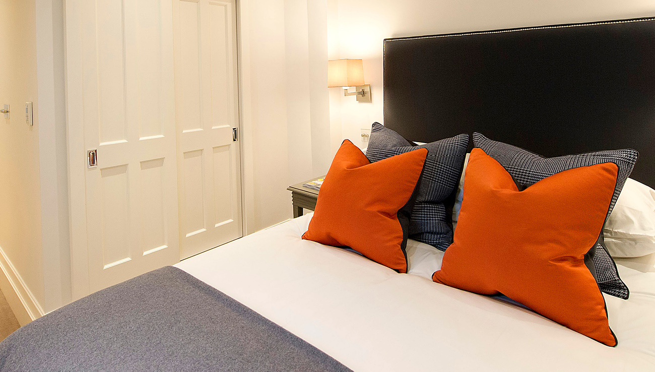 Double bed at Native Mayfair Apartments