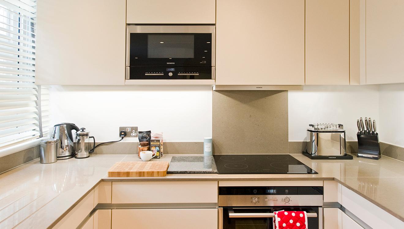 Modern kitchen at Native Mayfair Apartments