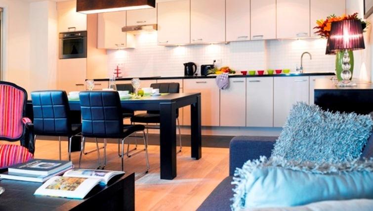 Kitchen at Thon Residence EUThon Residence EU