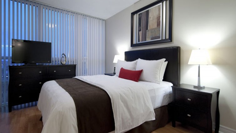 Tranquil bedroom in 360 At City Centre Apartments