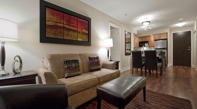 Cosy living area in Circa Apartments