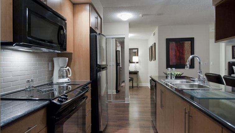 Equipped kitchen in Circa Apartments