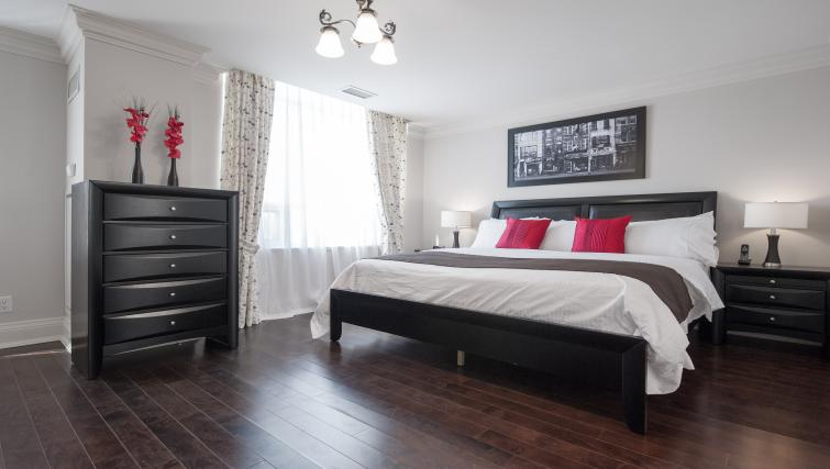 Bed at Meridian Apartments