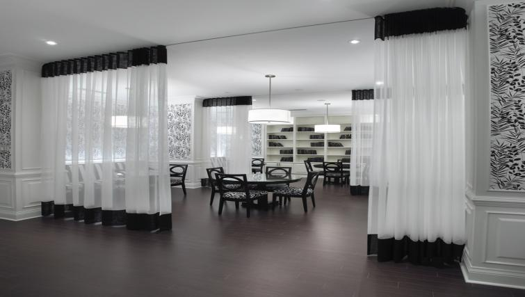 Card room at Meridian Apartments