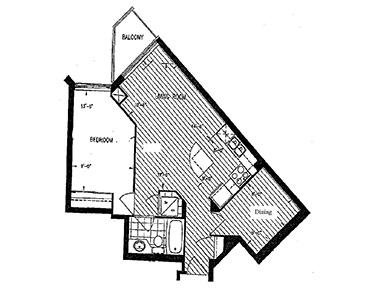 Floorplan 1 at Avondale Apartments