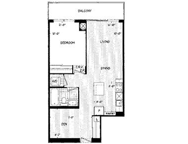 Floorplan at Republic Apartments