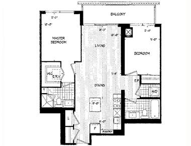 Floorplan 2 at Republic Apartments