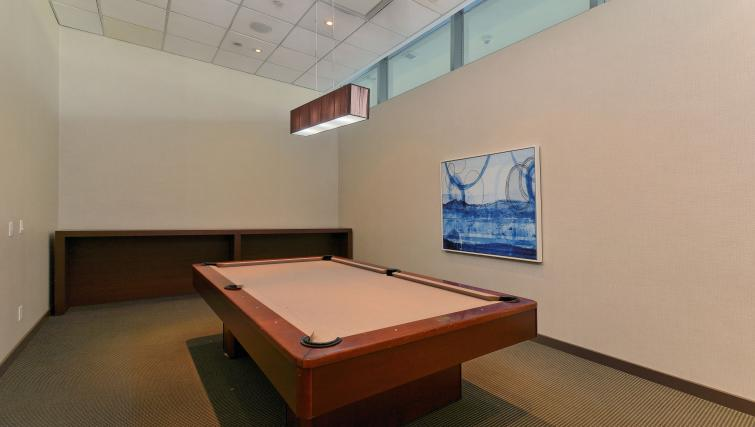 Billiards room at Republic Apartments