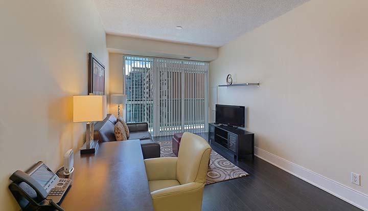 Living area at Republic Apartments