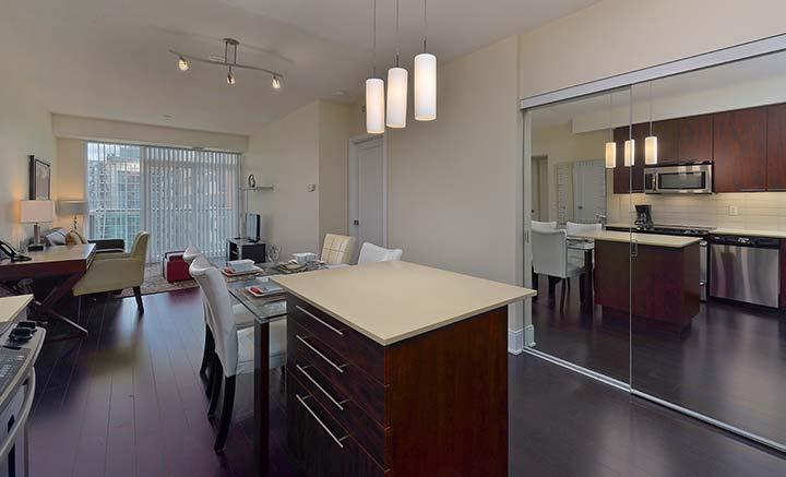 Kitchen facilities at Republic Apartments