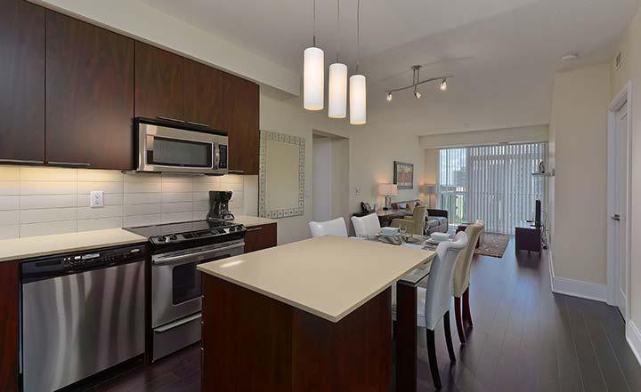 Modern kitchen at Republic Apartments