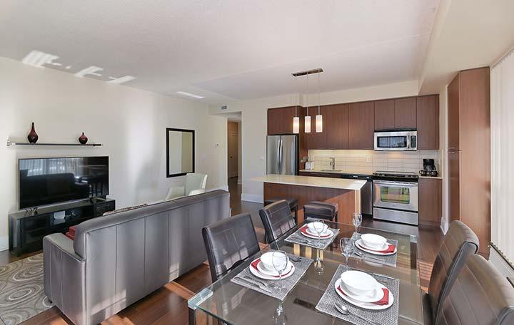 Stylish kitchen in Republic Apartments