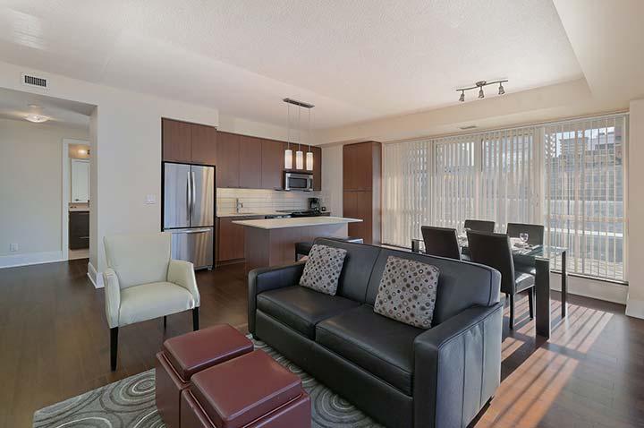 Serene bedroom in Republic Apartments