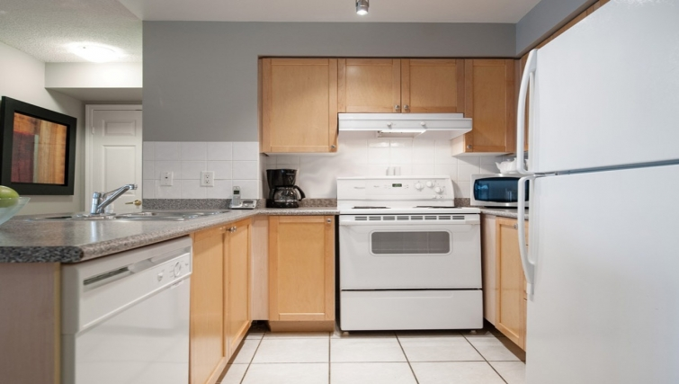 Bright kitchen in Skymark West Apartments