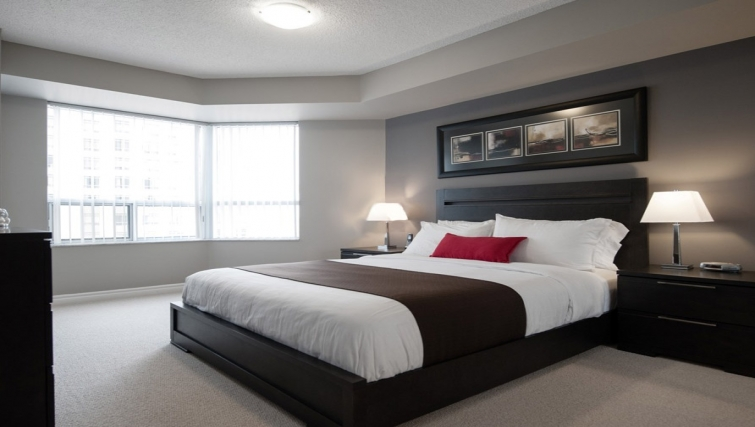 Desirable bedroom in Skymark West Apartments