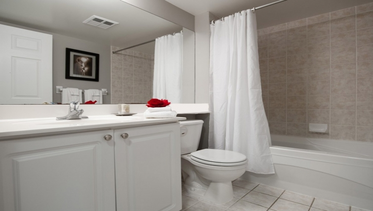 Pristine bathroom in Skymark West Apartments