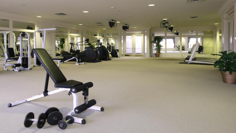 Fitness centre at Skymark West Apartments