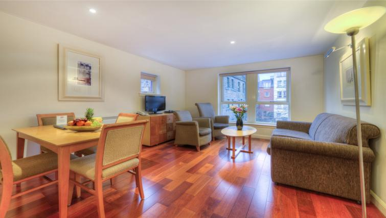 Living area at Holyrood Aparthotel