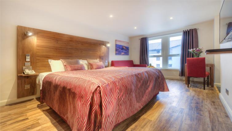 Bed at Holyrood Aparthotel