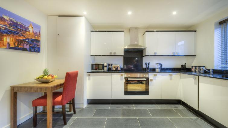 Kitchen at Holyrood Aparthotel