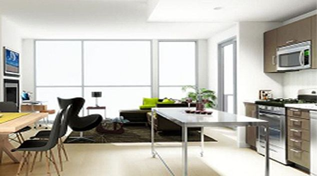 Modern living area in Stella Apartments