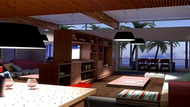 Unique living area in Stella Apartments