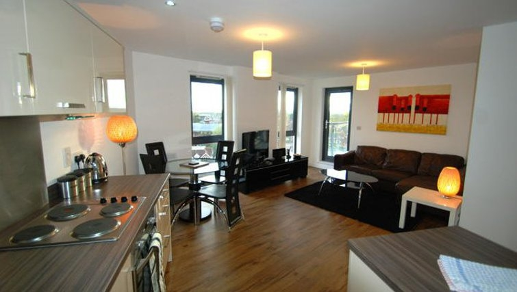 Attractive living area in Guildford Road Apartments