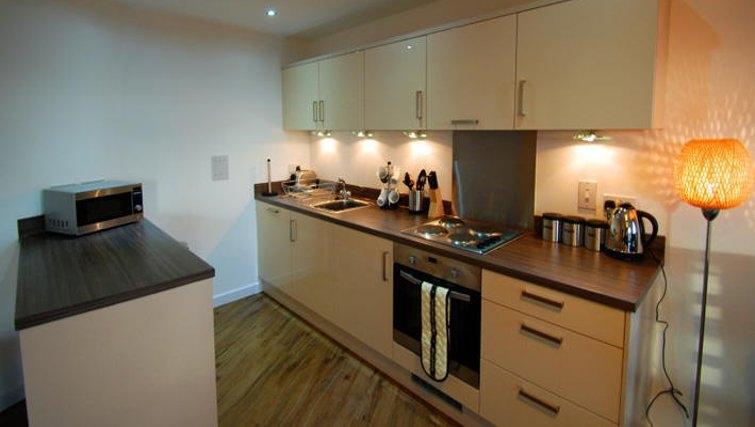 Modern kitchen in Guildford Road Apartments