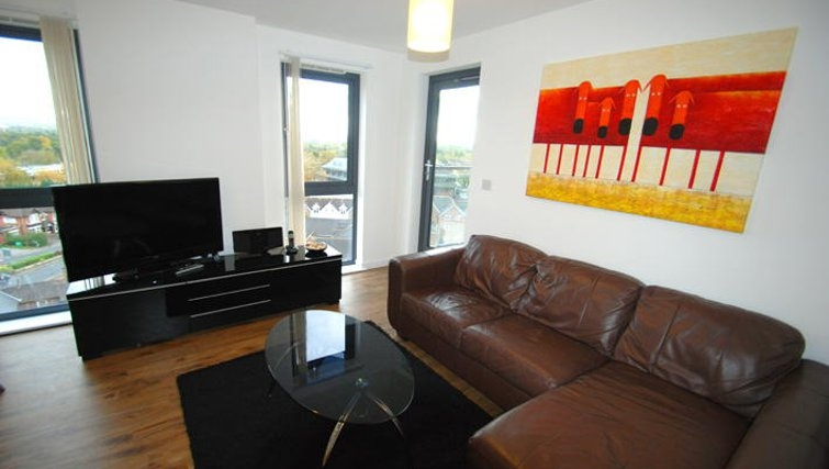 Comfy living area in Guildford Road Apartments
