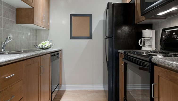 Practical kitchen in Icon Apartments