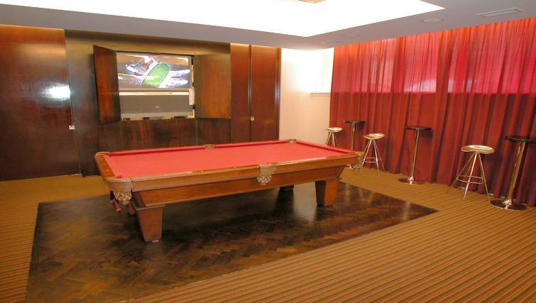 Billiards room in Icon Apartments