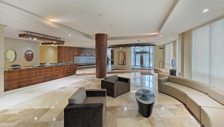 Lobbvy at Qwest Apartments