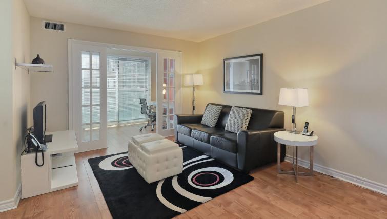 Sofa at Qwest Apartments
