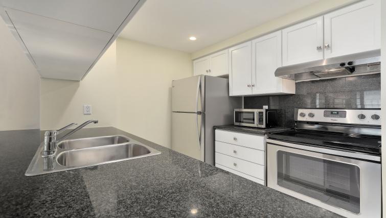 Kitchen at Qwest Apartments