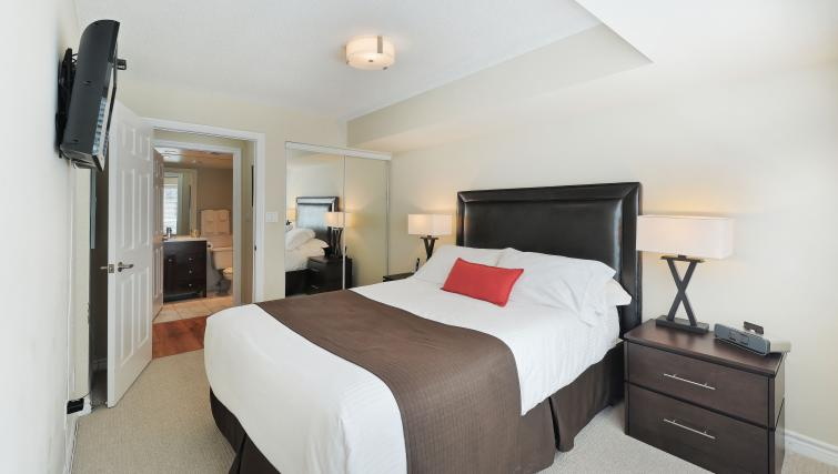 Bedroom at Qwest Apartments